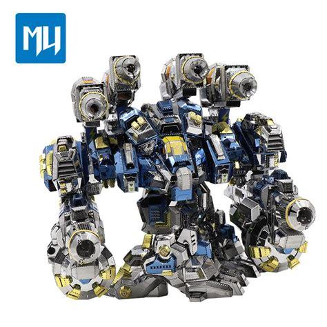 Mu 3d mu 3d metal puzzle starcraft 2 thor armor model kits diy
