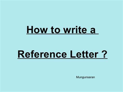 Xin Recommendation Letter 8 Reference Letters Mungunsaran