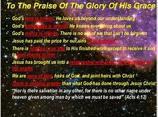 To the praise of the glory of his grace 06-01-2014 Tibor ... Ephesians 1:13
