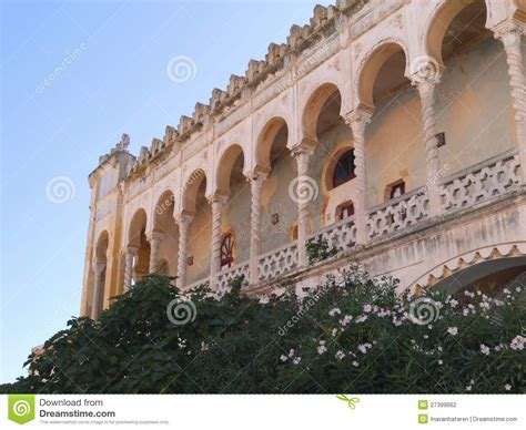 the moorish villa sticchi in the moorish villa sticchi in salento stock photography