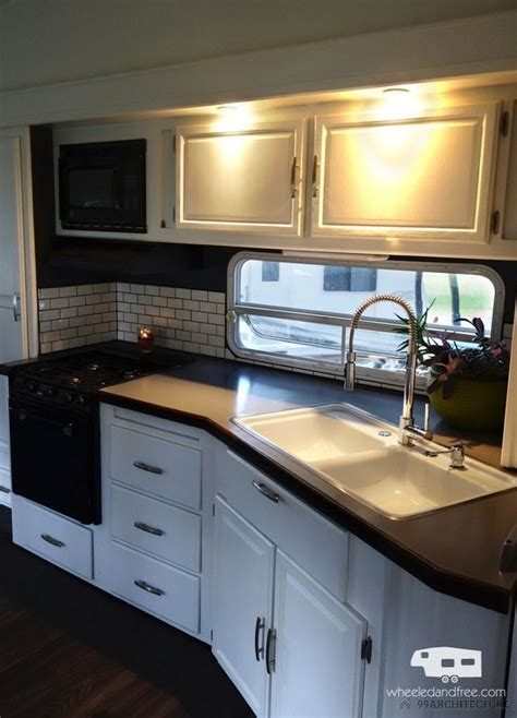 cer trailer kitchen ideas 25 best ideas about rv remodeling on trailer remodel cer makeover and travel