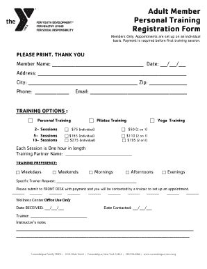 online tutorial registration training form registration fill online printable