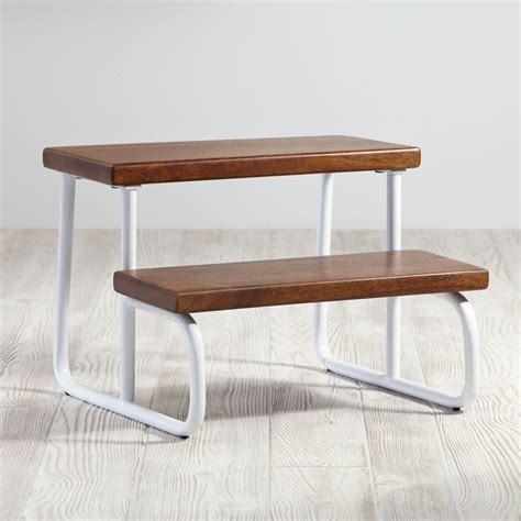 Flip Out Step Stool by White Wooden Step Stool The Land Of Nod