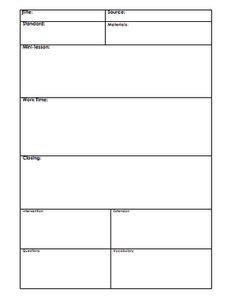 1000 Images About Planning On Pinterest Each Day Names And Assessment Low Inference Notes Template