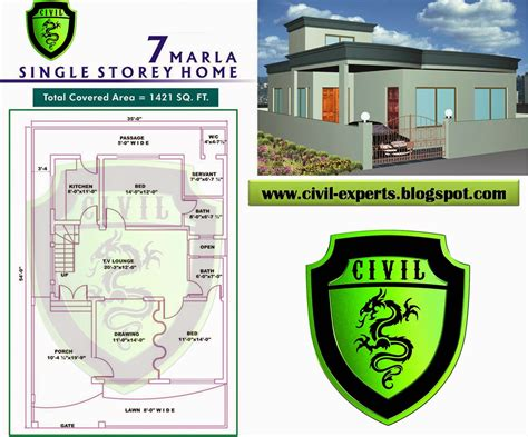 home design 4 marla civil experts 7 marla house plans