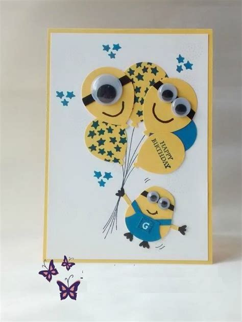minion greeting card template the 25 best diy birthday cards ideas on