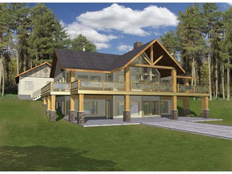 a frame house plans with basement eplans a frame house plan hillside with two levels of outdoor living 3871 square