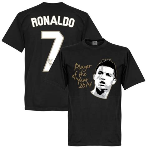 Tshirt Ronaldo Black ronaldo player of the year t shirt black