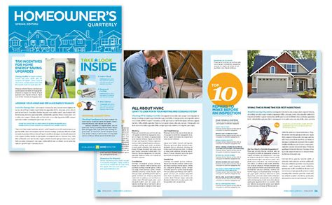newsletter layout size home inspection inspector newsletter template word