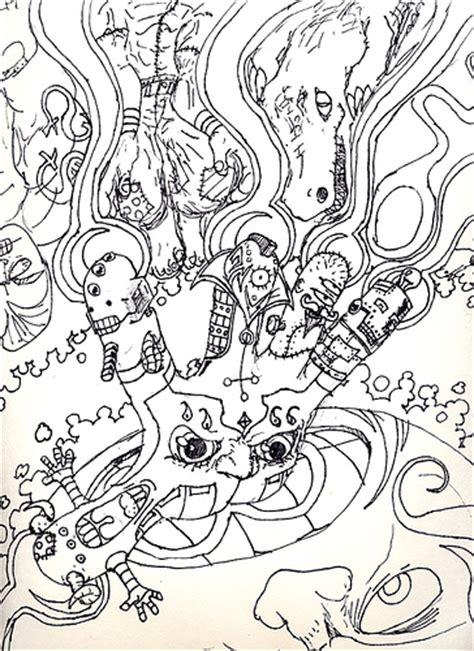 free coloring pages of trippy adult