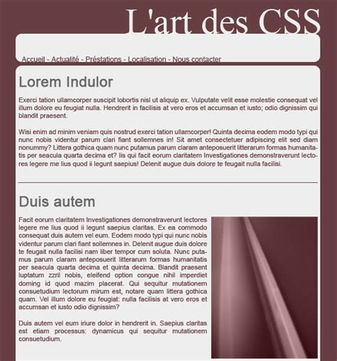 tutoriel tableau css noshade net tutoriel css cr 233 er une interface compl 232 te