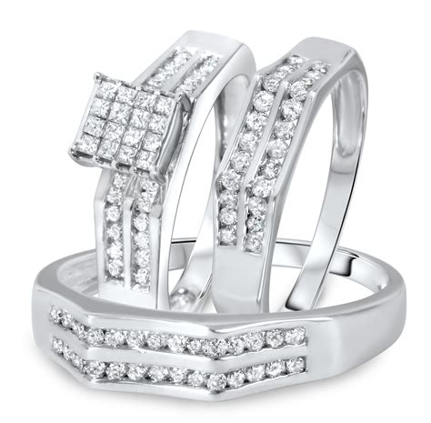 affordable infinity wedding ring set in 10k white