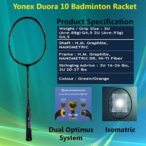 Woyo Raket Badminton Yonex Duora 10 Green And Orange Diskonn yonex duora series of badminton rakcets 2016 khelmart