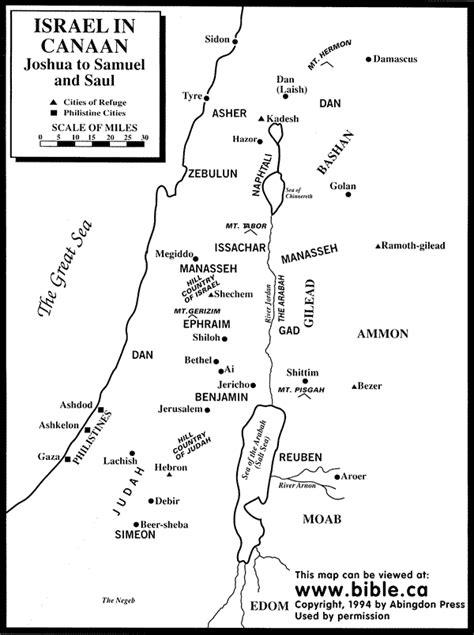 Location of the Twelve Tribes
