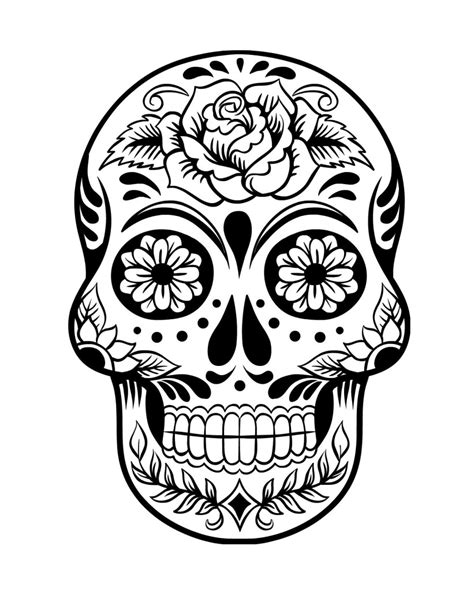 day of the dead skull coloring pages day of the dead skull coloring pages resume format