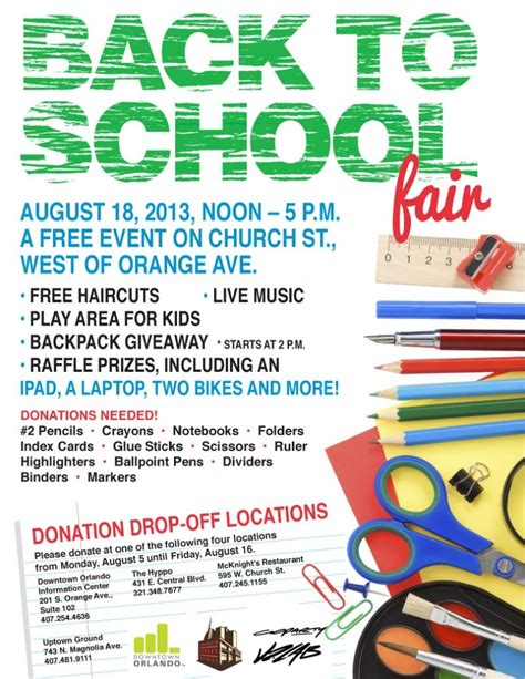 Back To School Giveaway Event - back to school fair downtownorlando com