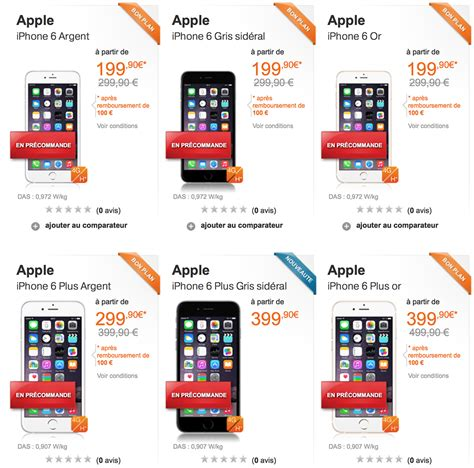 l iphone 6 quot 224 partir de quot 130 euros chez orange mais