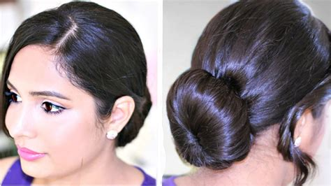 perfect  bun quick easy hairstyles youtube