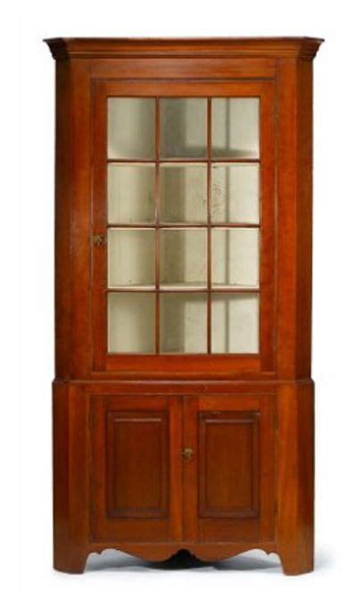 Antique Corner Cupboard For Sale - superb early 19th c american cherry corner cupboard of