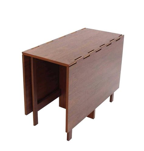 george nelson walnut drop leaf dining table for sale at
