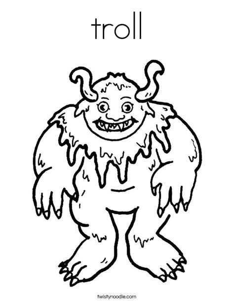 harry potter troll coloring page troll coloring pages getcoloringpages com