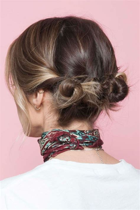 how to make a bun with a bob cut 25 best ideas about two buns hairstyle on pinterest two