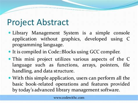 abstract thesis library system library management system project in c