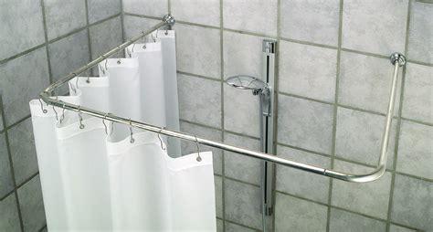 bastone tenda doccia 3 angolari di alluminio bastone per tenda doccia bianco o