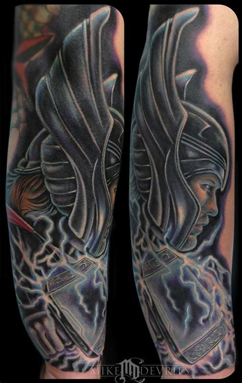 thor tattoos mike devries tattoos coverup thor