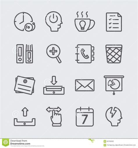 icones de bureau ligne fonctionnante ic 244 ne de bureau illustration de