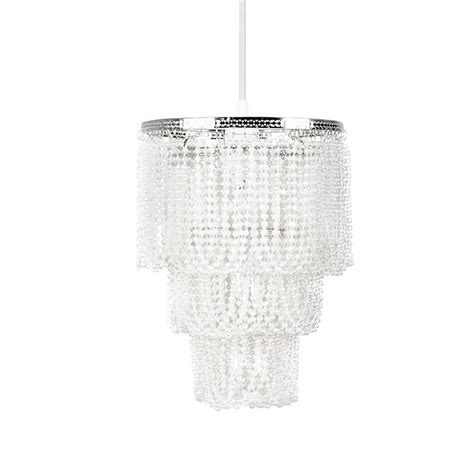 Beaded Pendant Light Shade Tadpoles 9 In X 12 In 1 Light White Pearlized Bead Pendant Layer L Shade Cchspl010