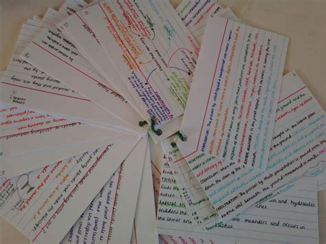 how to make revision cards what i learnt in geography this week revision
