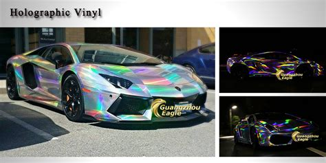 holographic car sale 1 52x20m air drain holographic foil
