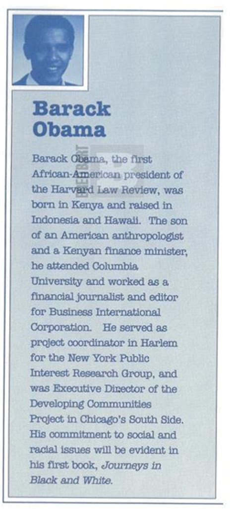 recount text biography barack obama 1991 obama was sted born in kenya