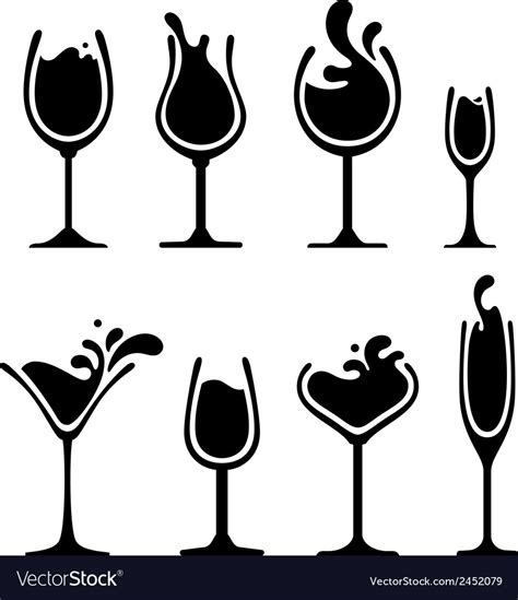 wine silhouette silhouette of wine glass with splash royalty free vector