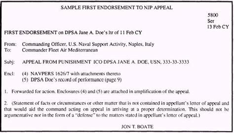 Endorsement Letter Of Duties And Responsibilities Sle Njp Appeal