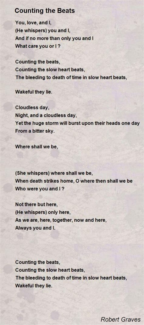 counting the beats poem by robert graves poem hunter