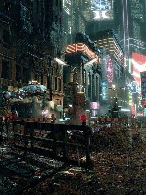 cyberpunk city concept environment sci fi concept art cinema e arquitetura blade runner cyberpunk city