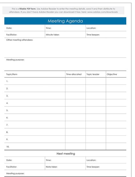 agenda templates top 9 free sle agenda templates word templates excel
