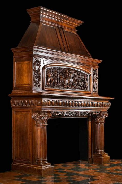 carved fireplace mantels 19th century antique fireplace mantel carved in walnut for sale at 1stdibs