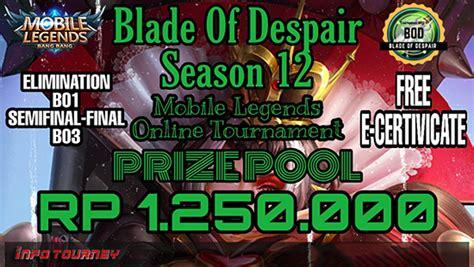 turnamen mobile legends blade  despair season
