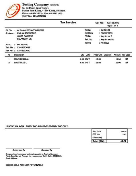 tax invoices alpine tech sales invoice tax invoice