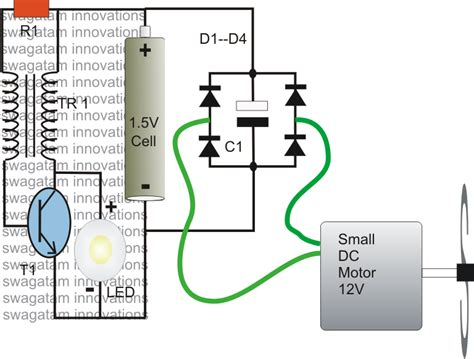 adding capacitor to joule thief 1 watt led driver using a joule thief circuit electronic circuit projects