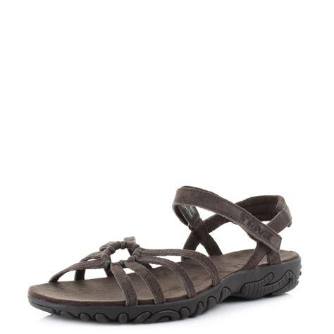 brown suede sandals womens teva kayenta weave brown suede flat ankle