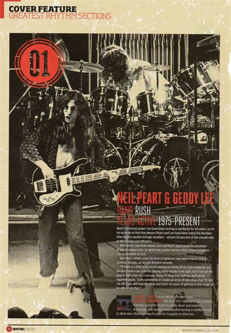 magazine sections names rhythm magazine name geddy lee and neil peart the greatest