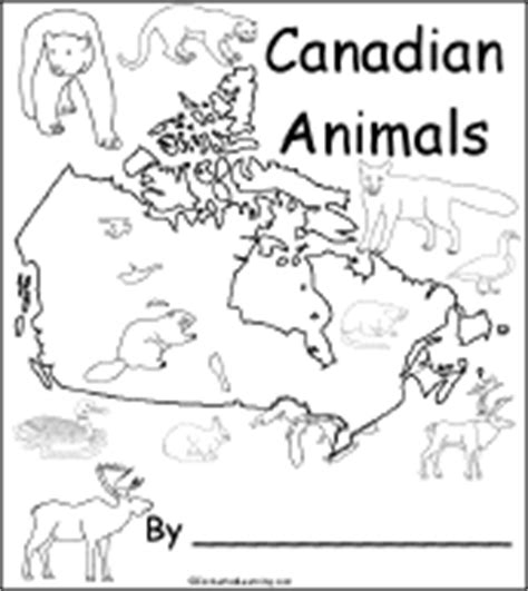 Coloring Pages Of Canadian Animals | outline map of ontario canada enchantedlearning com