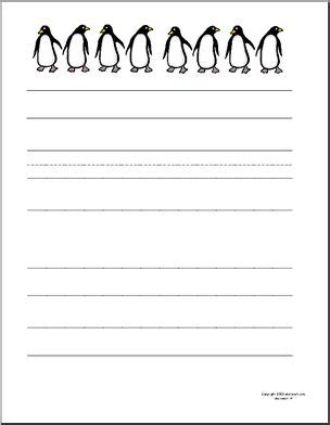 penguin writing paper writing paper penguin primary 1 abcteach