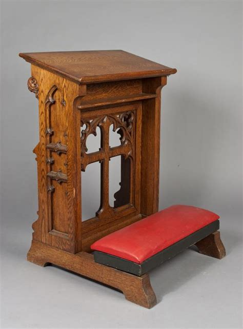 prayer bench plans antique oak kneeler with cross churches pinterest