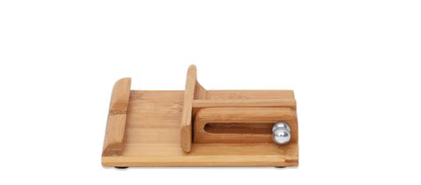 bamboo adjustable multi angle cell phone ipad stand holder