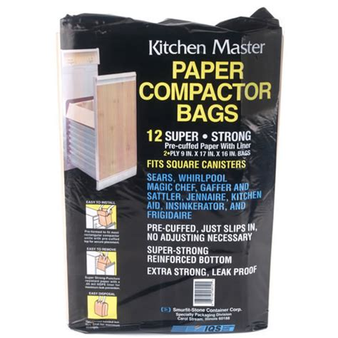 trash compactor bags kitchenaid trash compactor paper bags 12 bags 41207001